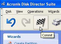 click commit Acronis pc