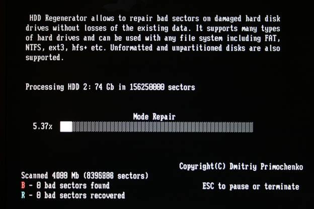 Bad sector repair tool windows 7.
