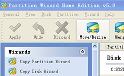 partition wizard home